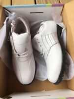 """2 The 9's """"Dashy"""" Women's White Golf Shoes Leather Waterproof New Size 7"""