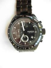 Fossil All Black Chronograph CH 2601 Wrist Watch All Stainless Steel EUC