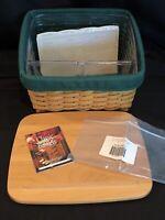 Longaberger Card Keeper Basket 5 pcs Protector Lid Ivy Liner unopened Cards NEW!