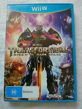 Transformers Rise Of The Dark Spark Wii U / testé