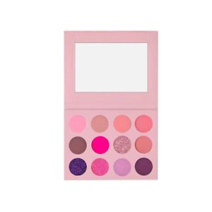 12 colour pink purple eyeshadow palette