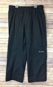 Columbia Black Omni Tech Waterproof Breathable Pants Mens Size XL