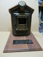Vintage  Gamewell Fire Alarm Station Call Pull Box, Fireman Award Plaque