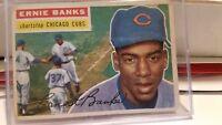 1956 Topps Ernie Banks Chicago Cubs #15 Baseball Card...white back