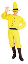 Curious George Man In Yellow Hat Costume Adult Mens Halloween One Size
