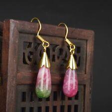 Women Natural Stone Jade Classic Dangle Earring Delicate Jewelry Water Drop