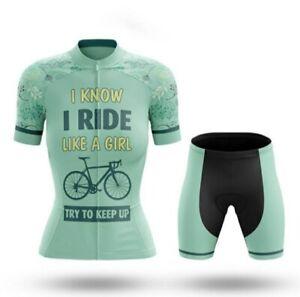 2021 Bike Cycling Jersey Women's Clothing short sleeve shirt bib shorts set