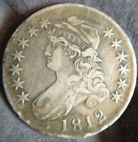 1812 Capped Bust Half Dollar 50c Extremely Fine XF EF Details Minor Scratches