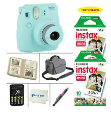 Fujifilm Mini 9 Instant Film Camera (Ice Blue) + 20 Film Sheets + Accessories