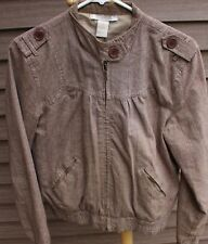 Women's Brown Lightweight Jacket by Charlotte Russe; Size:  Large