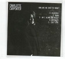 (HD991) Charlotte Carpenter, How Are We Ever To Know? - 2016 DJ CD