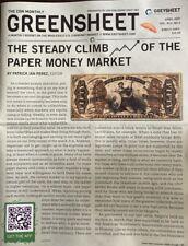 GREENSHEET: Currency Dealer Newsletter (Single Current Issue) - April 2021