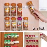 5-20 Clips Kitchen Cabinet Door Clips Spice Wall Mount Storage Organizer Rack
