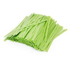 500pcs Green White Checks Grids Twist ties for Bakery Gift Candy Cello Bags