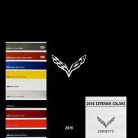 2015 STINGRAY CONVERTIBLE CORVETTE LT1 - BOOK BROCHURE + CHART: C7 CHEVROLET Z51