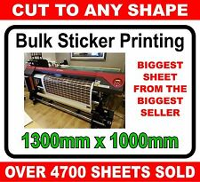 Custom printed vinyl stickers / labels / graphics UNLAMINATED