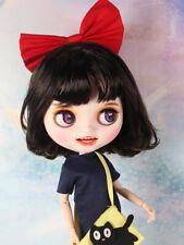 """12"""" Blythe factory Doll Brown Hair Matte face 1/6 bjd Open mouth custom makeup"""