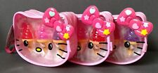 3 Hello Kitty Cosmetic Bag Ice Cream Cone Lip Gloss Sets ~ NWT's ~ Free S/H