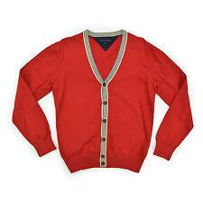 TOMMY HILFIGER Herren Strickjacke M 50 rot Cardigen Men Jacket Knit TOP