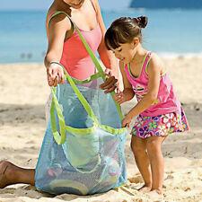 Foldable Beach Shoulder Mesh Storage Bag Kids Toys Clothes Large Pouch Organiser