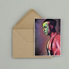 Recycled Hand Made Card Till Lindemann Rammstein Inspired Greetings Card