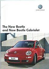 Volkswagen Beetle and Cabriolet Brochure 2007 + Beetle Art Personalise Brochure