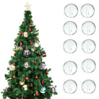 Clear Plastic Balls Christmas Baubles Sphere Fillable Xmas Decor Tree Ornament