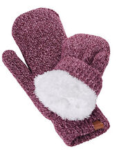 New! D&Y Women's Soft Cozy and Warm Fuzzy Lining Two Tone Mittens