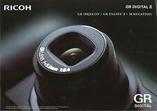 Prospekt Ricoh GR Digital II Digitale Kamera 2006 Kameraprospekt Broschüre