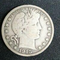 1915-S Barber Half Dollar ( 90% Silver )