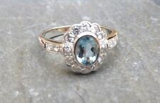 Aquamarine Cluster White Gold 18 Carat Fine Rings