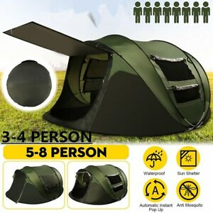 5-8 Person Camping Tent Waterproof Room Outdoor Pop Up Hiking Backpack Fishing