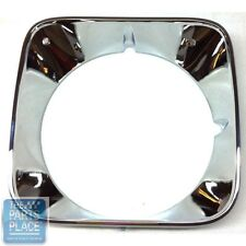 1971-72 Monte Carlo LH Chrome Headlamp Bezel New Die Cast - GM # 3982445