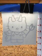 Hello Kitty Devil With Horns -  White - Vinyl Sticker Decal - Y7-1.190