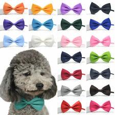 Solid Color Cat Bowtie Pet Puppy Dog Collar Bowknot Necktie Bow Tie Adjustable