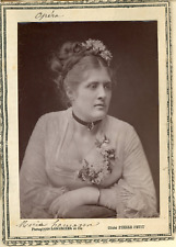 Lemercier et Cie, Paris, Opéra. Soprano Maria Hamann Vintage print.  Photoglyp