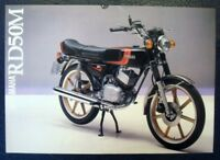 YAMAHA RD50M MOTORCYCLE Sales Brochure c1980 #LIT-3MC-0107284-80E