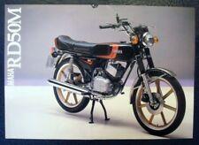 YAMAHA RD50M MOTORCYCLE Sales Brochure c1980 #LIT-3MC-0107284-80E