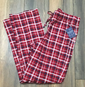 Men's True Comfort Lounge Pants Red Plaid Pant PJ Comfortable Croft & Barrow