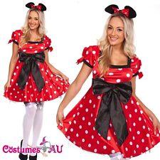 Ladies Minnie Mini Mickey Mouse Costume Halloween Hens Party Disney Fancy Dress