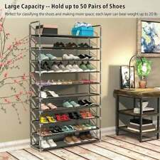 3/5/10 Shoe Boot Rack Tier Storage Organizer Cabinet Shelf Space Tower Pair Home