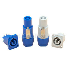 NAC3FCA Serie 3pin PowerCon Lockable Blue/Gray 20A 250VAC Input Output Connector