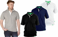 Mens D555 GRANT Pique Polo Shirt Top With Pocket | Duke Big Kingsize