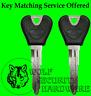 Ford Probe 93-97 Lot of Two (2) Ford Logo OEM Key Blank Black Plastic 596756
