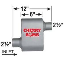 Ap Exhaust Muffler Cherry Bomb Extreme 25 Id X 25 Od 12 Oal Oval Ooo