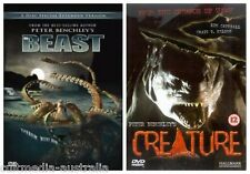 THE BEAST EXTENDED + CREATURE PETER BENCHLEY RARE DOUBLE NEW 3 DVD 2 MOVIES R4