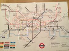 London Underground, The Tube, Subway Map Poster 50cm x 70cm