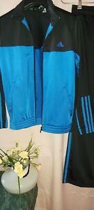 Adidas Trainingsanzug Jungen Sportanzug 2er Set Gr. 152 Jacke + Hose TOP