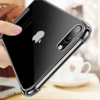 Hybrid Shockproof Clear TPU Hard Bumper Cover Case for iPhone X 5 SE 6s 7 8 Plus
