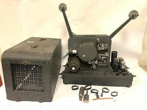HARWALD MOVIE-MITE Vintage 16mm Sound/Film Projector, RCA Tube Amp, Simpson Lens